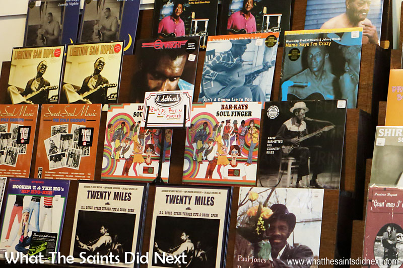 Classic Blues as well as Rock 'n' Roll albums on vinyl are still sold on Beale Street in Memphis, including records from the Stax music label.