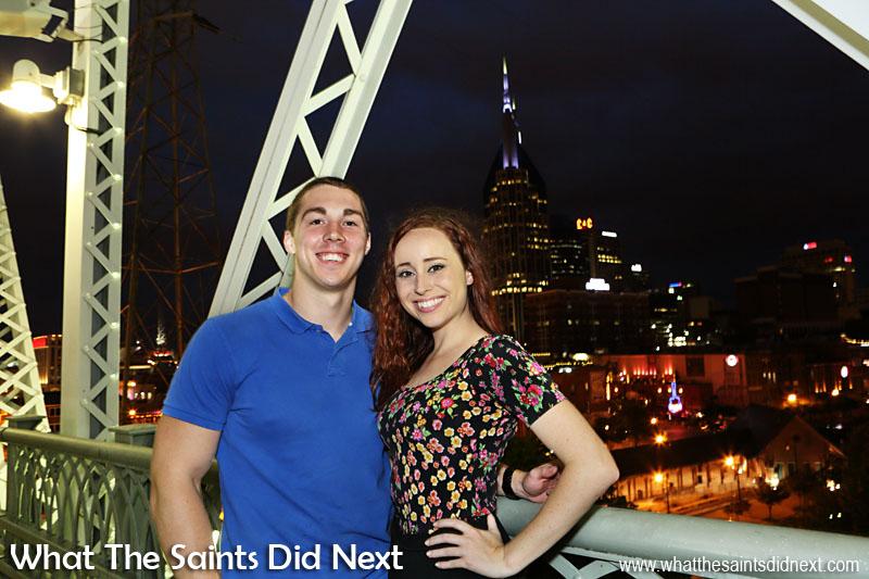 Jeff and Katie who we met on the Shelby Street Bridge, overlooking the city of Nashville.