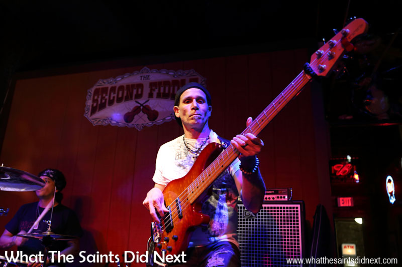 Casey Edgar's bass guitarist feeling the groove in Second Fiddle. All the singers and musicians loved the camera and were easy to photograph, in Nashville as well as New Orleans.