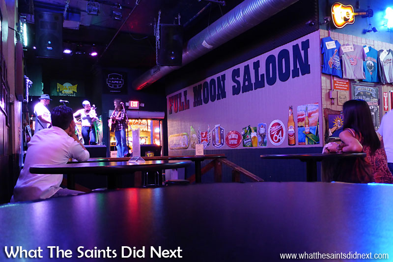 The Rische's performing in the Full Moon Saloon.