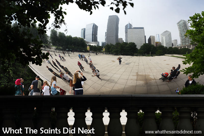 The Cloud Gate, Chicago, Illinois. Even from a distance, across the park, the Bean was still fascinating to photograph.