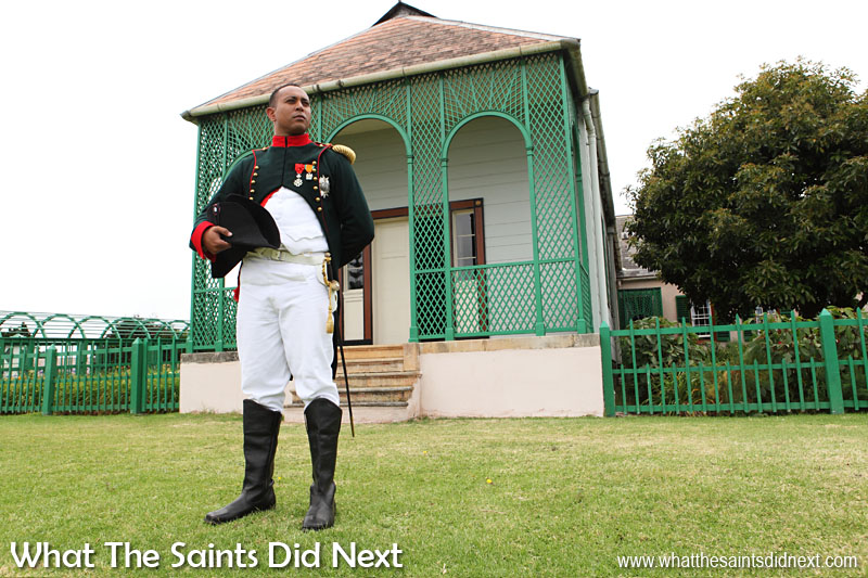 Recreating the reflective mood of Napoleon's move on 10 December 1815 from the Briars to his permanent residence, Longwood House, St Helena. The French Emperor is portrayed by local Saint actor, Merrill Joshua. This event is taking place on 10 December 2015, exactly 200 years after the original.