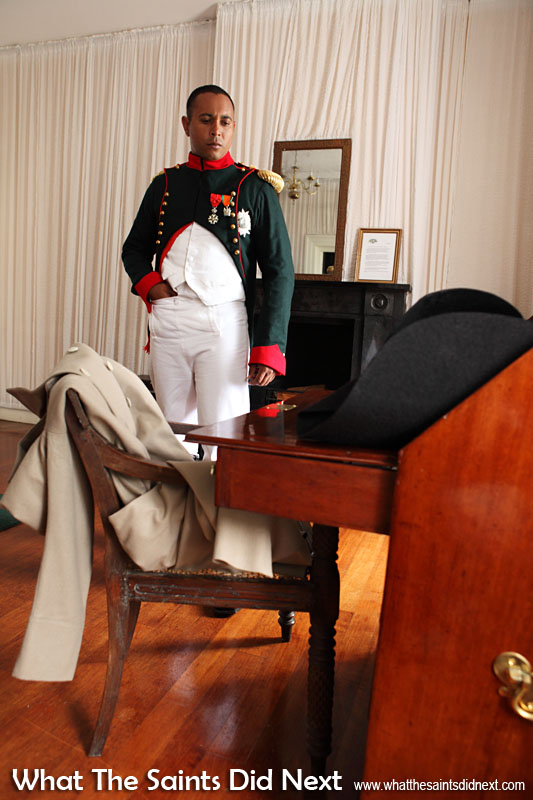 Re-enactment of Napoleon's move on 10 December 1815 on St Helena from the Briars to his permanent residence, Longwood House. The French Emperor is portrayed by local actor, Merrill Joshua. This event is taking place on 10 December 2015, exactly 200 years after the original.