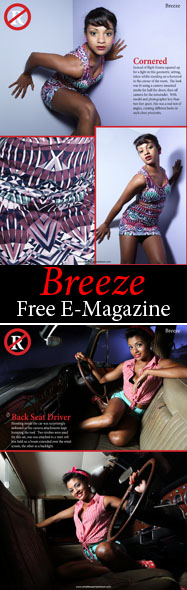 The Breeze e-magazine photoshoot for issue 2 features Saint model, Emma-Jay Constantine. 12 Pages of photos including behind the scenes on the shoots.