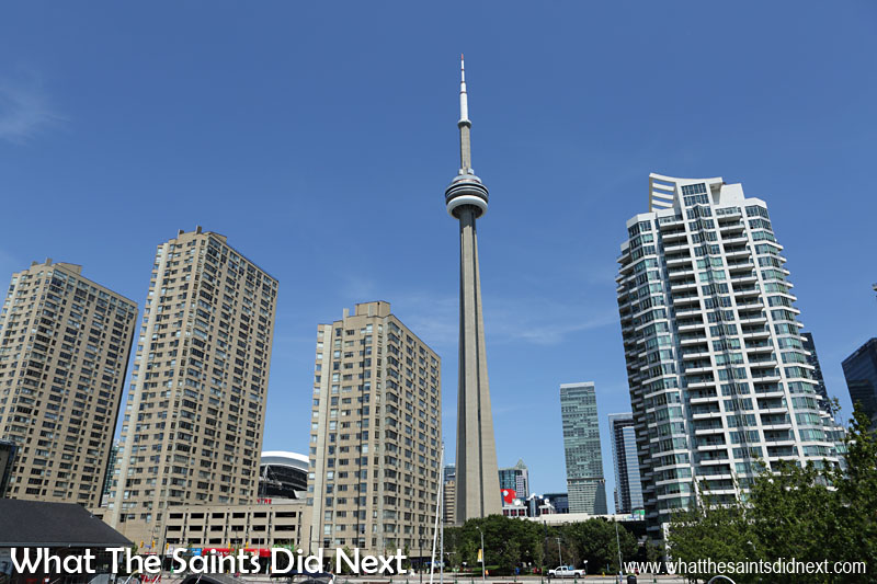 The CN Tower was originally conceived as a transmission tower and continues to be used by over 30 radio and TV broadcasters.