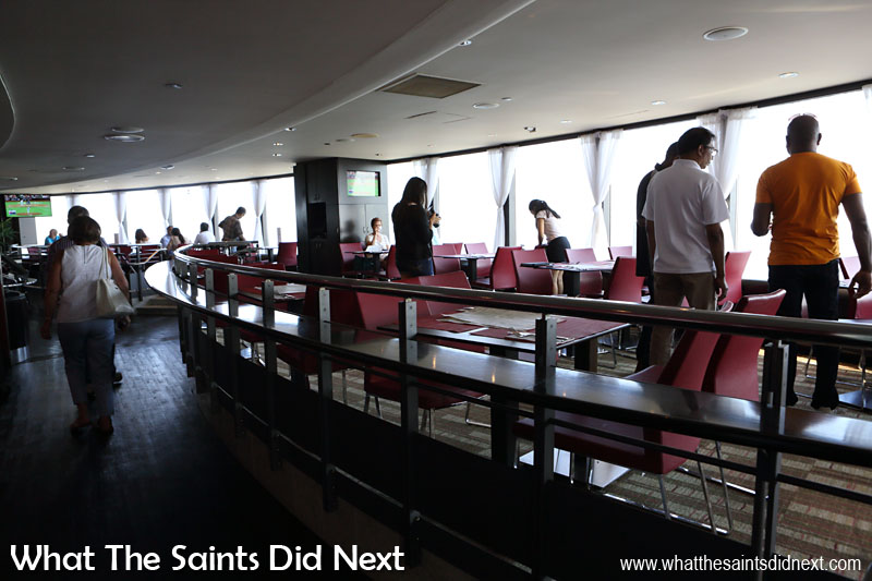 Horizons Restaurant is located on the Lookout Deck level of the CN Tower. The restaurant has seating for 130 and a party capacity of 300 plus a dance floor.
