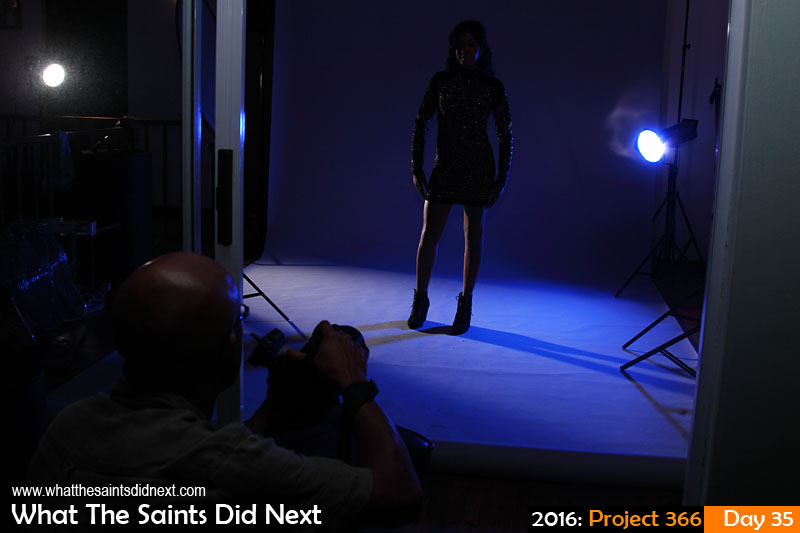'First country' 4 Feb 2016, 20:52 - 1/100, f/7.1, ISO-200 What The Saints Did Next - 2016 Project 366 Behind the scenes on a studio photoshoot.