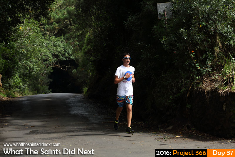 'On Target' 6 Feb 2016, 15:17 - 1/400, f/8, ISO-200 What The Saints Did Next - 2016 Project 366 Leading the way in sponsored walk raising funds for the Jamestown Rifle Club, St Helena.