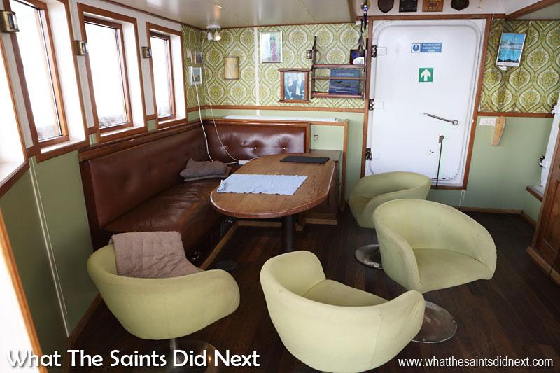The stern lounge on Gulden Leeuw.