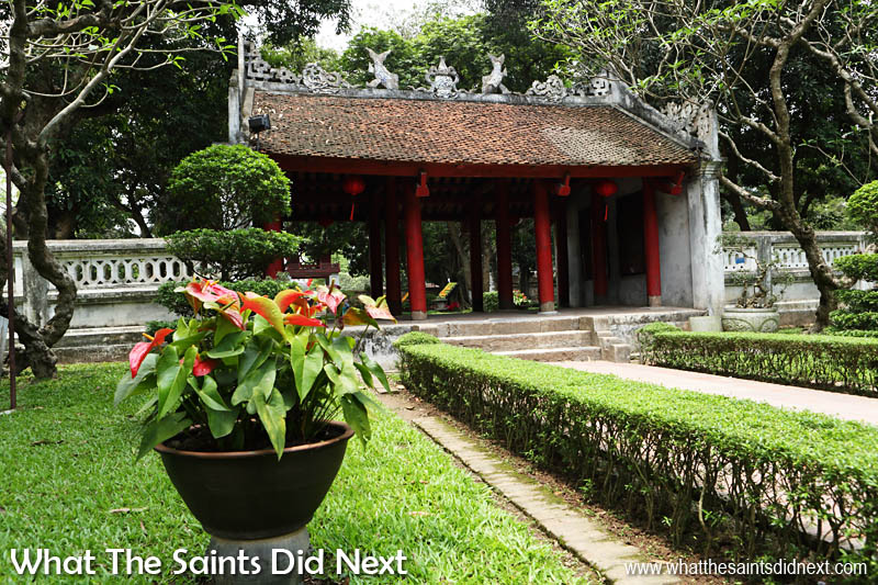 The 'Great Middle Gate' leads to the second garden courtyard.  The Quoc Tu Giam National University in Hanoi, Vietnam, began in 1076 under the Ly dynasty and further developed in the 15th century under the reign of the Le dynasty.