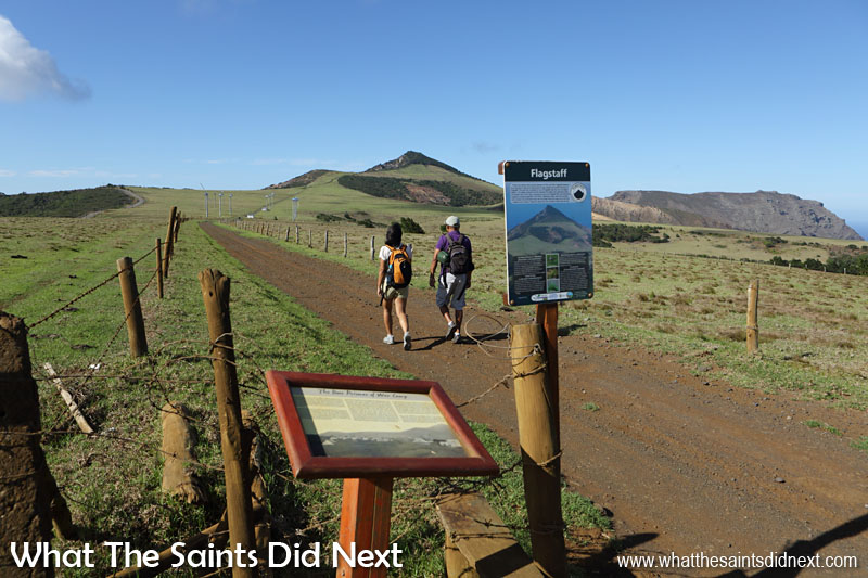 Starting out across Deadwood Plain on the Flagstaff Post Box walk. The information boards shown here contain very interesting snippets about the walk, the wirebirds and Deadwood Plain.