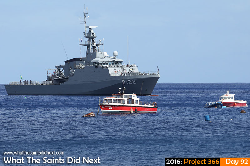 'Lee' 1 April 2016, 09:49 - 1/640, f/8, ISO-200 What The Saints Did Next - 2016 Project 366 Brazilian navy ship, BNS Araguari, visiting St Helena Island.