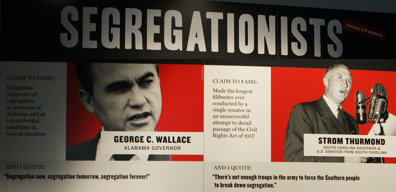 'Segregationists' exhibit inside The Center for Civil and Human Rights building in Atlanta, Georgia.