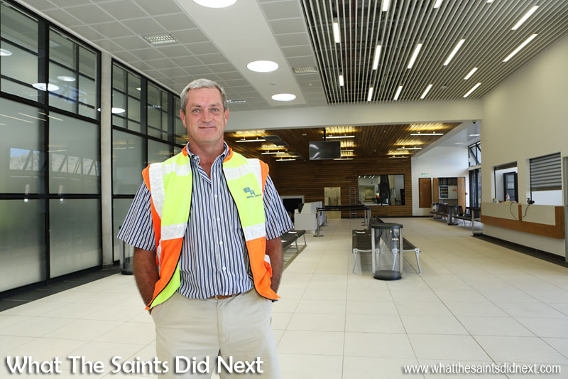 The man who led the St Helena Airport Project, Basil Read's Island Director, Deon De Jager.