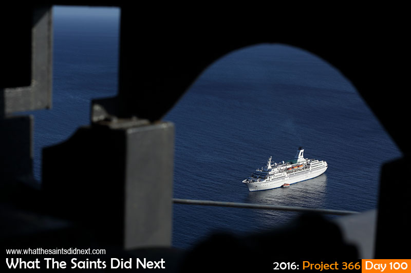'The Boss' 9 April 2016, 08:10 - 1/1000, f/8, ISO-200 What The Saints Did Next - 2016 Project 366 Cruise ship, MV Astor, calling at St Helena Island.