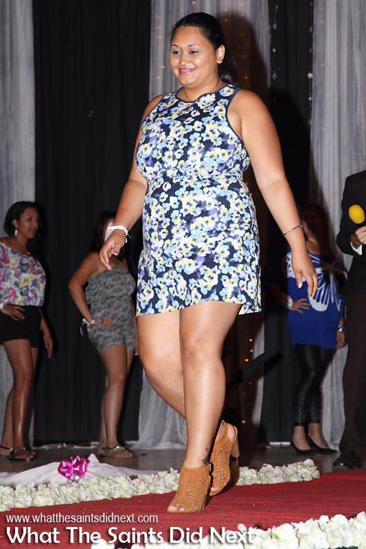 Ayla Phillips, contestant no.13, in first round casual wear. Miss St Helena 2016 beauty pageant held at Prince Andrew School.