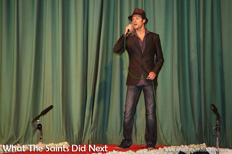 Paul Tyson performed two songs at Miss St Helena 2016, part of the interval entertainment.