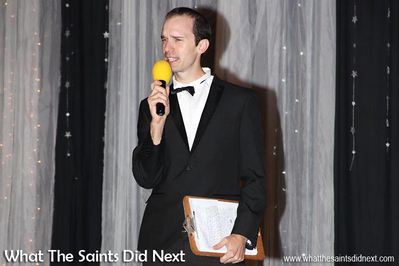 Miss St Helena 2016, MC for the evening, John Woollacott.