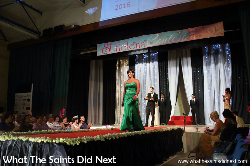 Kimley Yon, contestant no.10, on her way to winning the Miss St Helena 2016 crown.