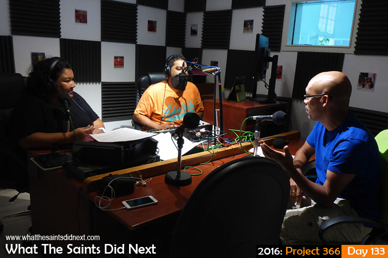 'Harford' 12 May 2016, 09:02 - 1/13, f/3.3, ISO-400 What The Saints Did Next - 2016 Project 366 What The Saints Did Next as a guest on SAMS Radio 1, Sunrise.