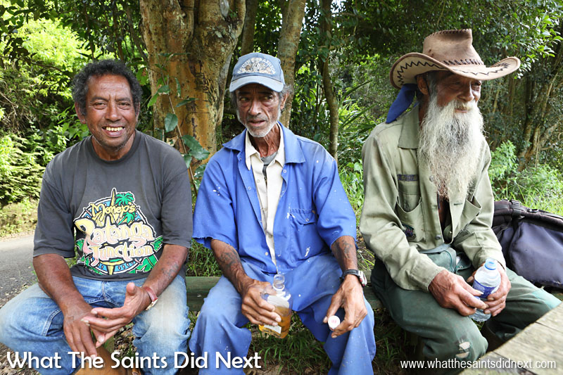Some of the island characters you will meet in Sandy Bay, one of the most beautiful districts on the St Helena. The older generation can open the door to some of the most amazing stories about St Helena's recent history. It's worth having a chat!