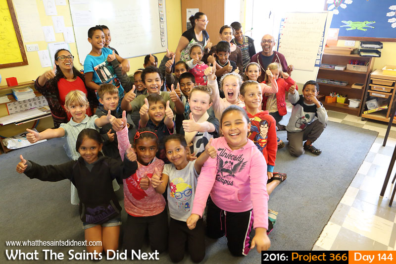 'What happened to the bones' 23 May 2016, 11:42 - 1/60, f/8, ISO-800 What The Saints Did Next - 2016 Project 366 WTSDN with pupils at Harford Primary School in Longwood.
