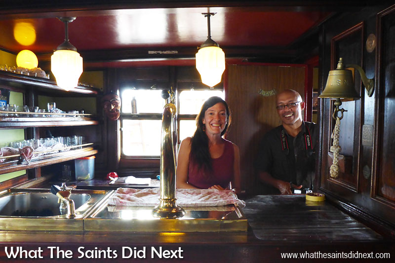 When she's not playing tour guide around the ship to curious photo-bloggers, Laura is the bartender on Bark Europa.