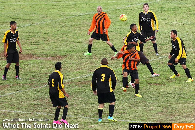 'Top Gear' 29 May 2016, 14:52 - 1/400, f/4, ISO-200 What The Saints Did Next - 2016 Project 366 Bellboys vs Hotshots, football season begins on St Helena.