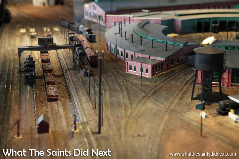 A really cool detailed model the original DL&W Scranton yard, inside the Steamtown museum, Pennsylvania.