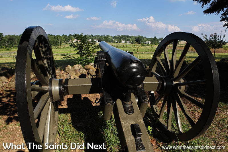 Another model 1857 'Napoleon' field artillery gun on display in the Gettysburg Battlefield.