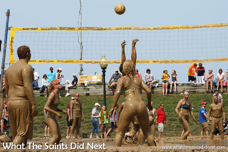 Hannibal's July Fourth Mud Volleyball Tournament is actually quite a good sporting event. Once you get past the mud element, the volleyball quality is surprisingly high.