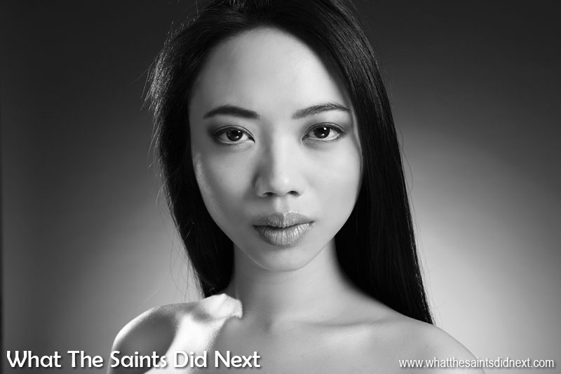 Black and white photography is very popular for professional headshots and portraiture. Without the distraction of colour, the character and expression of the face becomes far more prominent. This portrait of Cyan was captured during a portfolio shoot in London. Lighting is subtle but carefully arranged for gentle shading and tone.