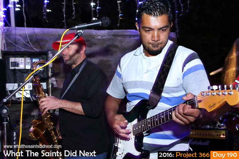 'Estrada' 8 July 2016, 19:30 - 1/8, f/8, ISO-800 What The Saints Did Next - 2016 Project 366 The Big Easy band performing at the Mule Yard, Jamestown, St Helena.
