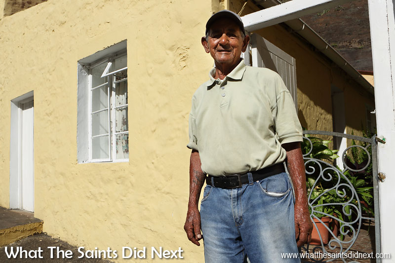 Derek Bannett is one of Jamestown's fittest residents, still walking up and down Ladder Hill every day at age 85. Derek lives near Little Italy in upper Jamestown.
