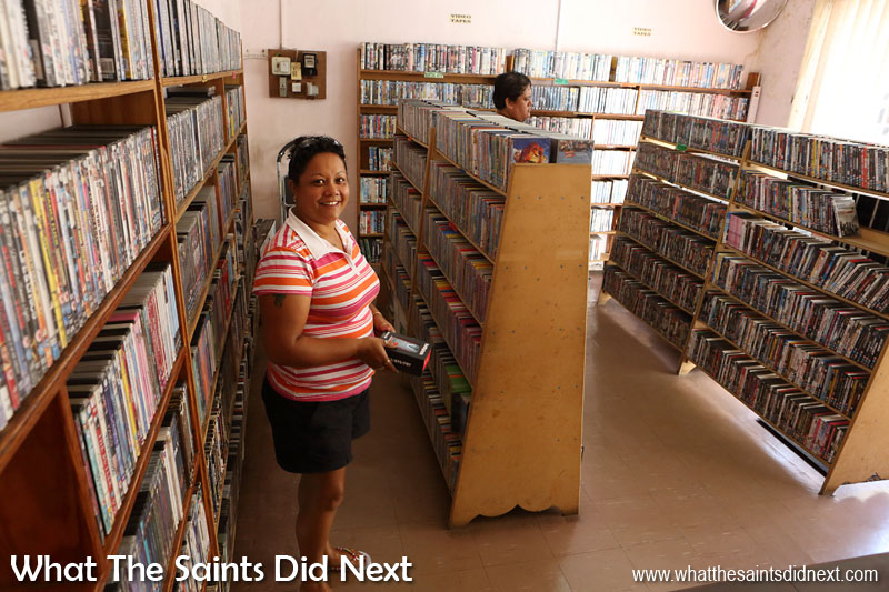 Brown's Video Library in the middle of 'downtown' Jamestown.