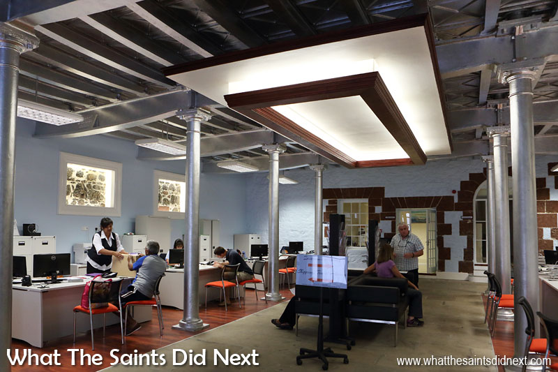 Solomon & Company's new shipping and insurance offices are brand new, or rather, a stylish renovation of an older Jamestown building.