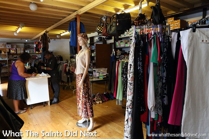 Inside one of the clothes shops along Main Street in Jamestown.