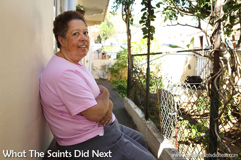 Patsy Youde at her house in Botanical Gardens, Jamestown, tells me about the old days on St Helena.