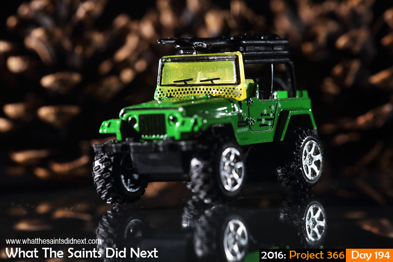 'Bari' 12 July 2016, 19:13 - 1/125, f/8, ISO-100 What The Saints Did Next - 2016 Project 366 Toy Jeep.