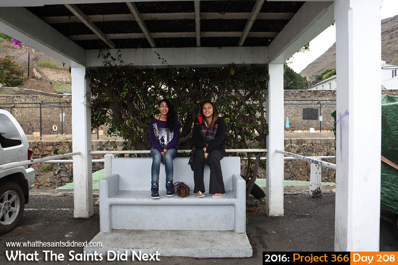 'Abelisaurus' 26 July 2016, 13:13 - 1/100, f/8, ISO-200 What The Saints Did Next - 2016 Project 366 Girls on the honeymoon chair, Jamestown, St Helena.