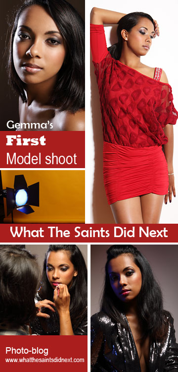Photoshoot by What The Saints Did Next.  Model, Gemma Lawrence; Photography, Darrin Henry; Make-up, Sharon Henry