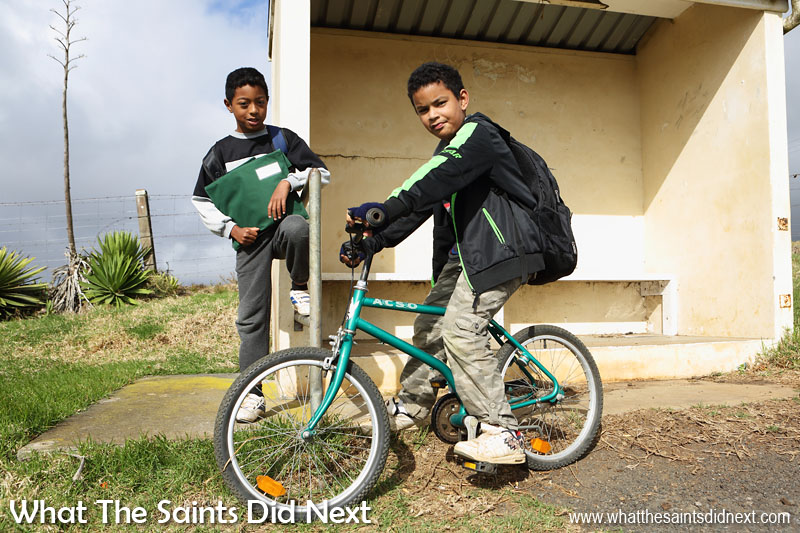 Young boys out playing in the Deadwood area of Longwood, taking time out to chat and let me photograph them.