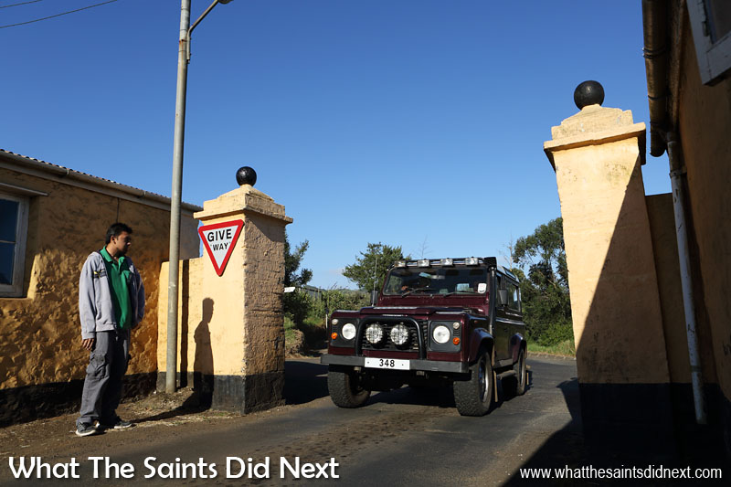 Longwood Gate, start of the Avenue and a key reference point on St Helena.