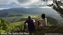 What The Saints Did Next - Adventures in Photography by Darrin and Sharon Henry World Photo Day 2016 entry: sitting at the top of Flagstaff on St Helena Island in the late afternoon, enjoying the view before walking back down.