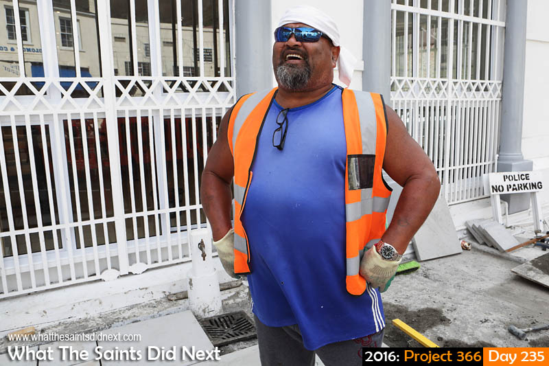 'Ankle-deep' 22 August 2016, 14:51 - 1/125, f8, ISO-200 What The Saints Did Next - 2016 Project 366 Construction works on the streets of Jamestown, St Helena.