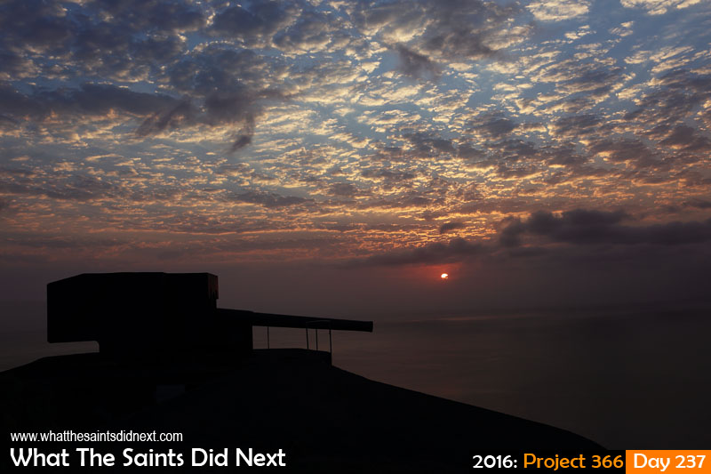 'Norcia' 24 August 2016, 18:04 - 1/200, f8, ISO-200 What The Saints Did Next - 2016 Project 366 Sunset over Ladder Hill guns, St Helena.