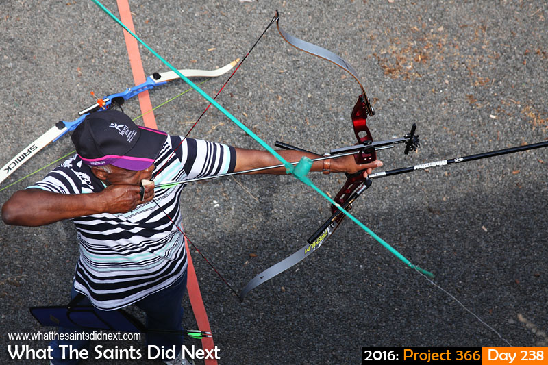 'Graphene' 25 August 2016, 13:35 - 1/200, f8, ISO-200 What The Saints Did Next - 2016 Project 366 Archery session in progress at the Jamestown Rifle Club.