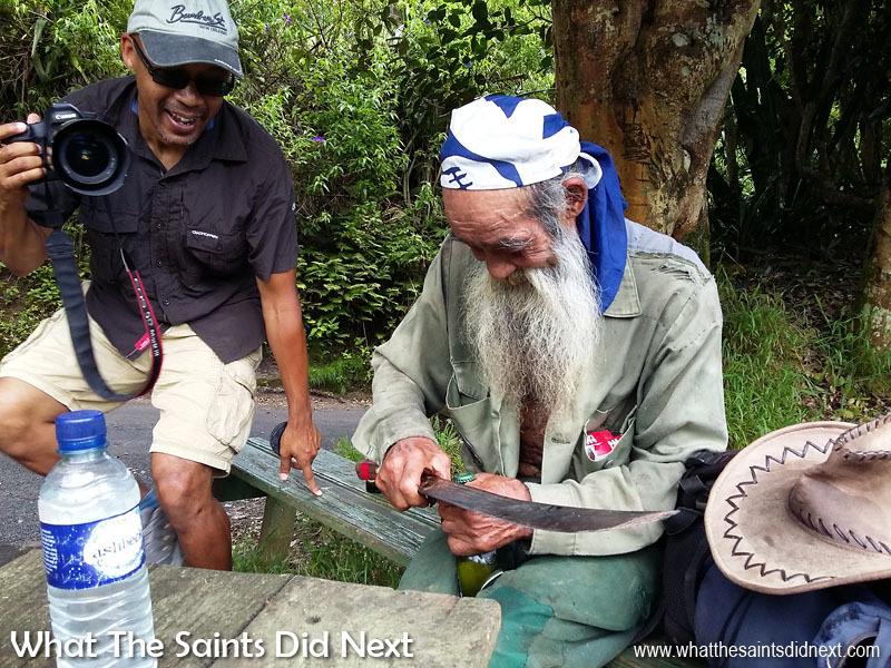 Candid Moments - I loved this moment in Sandy Bay with Raymond opening a beer bottle using a machete! It was all over in a second but having the phone in camera mode meant I could capture it!  Tips For Better Mobile Photography