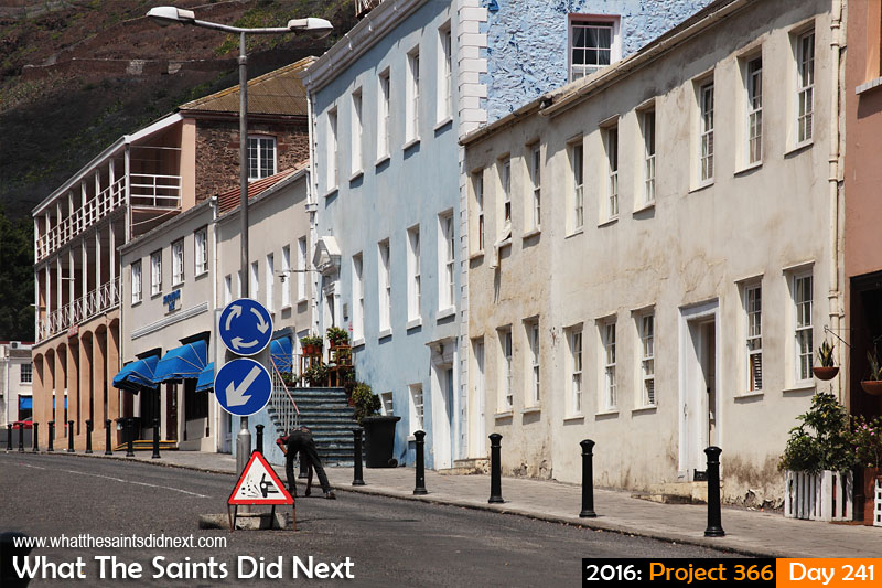 'BHS gone' 28 August 2016, 12:12 - 1/400, f14, ISO-200 What The Saints Did Next - 2016 Project 366 Main Street, Jamestown, St Helena, quiet on a Sunday.