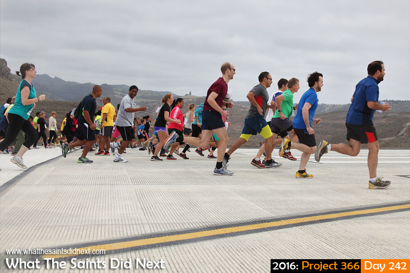'Ceasefire' 29 August 2016, 10:14 - 1/500, f8, ISO-200 What The Saints Did Next - 2016 Project 366 The first Runway Dash gets underway at St Helena Airport.